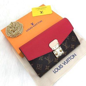 Louis Vuitton Pallas Wallet  %100 Authentic Leathe
